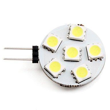 Blumenzwiebeln - G4 1 W 6 x 5050 SMD LED Licht Lampe Birne Spot Spotlicht 50 lm 2700 K natur weiß (12 V)