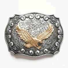 Golden Eagle Western Belt Buckle