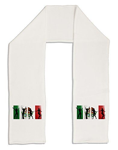 "TooLoud Mexican Flag - Dancing Silhouettes Adult Fleece 64"" Scarf"