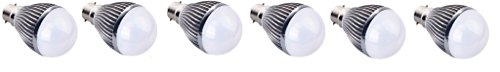 5W B22 Aluminium Body White LED Bulb (Pack of 6)