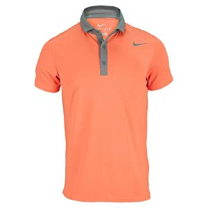 NIKE Men`s Baseline Tennis Polo Large