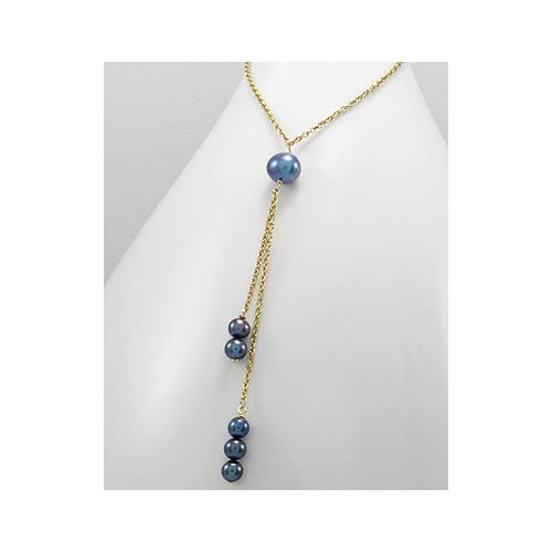 Jewelry Locker Tahitian Drop Pearls on 14k Gold Plated Chain
