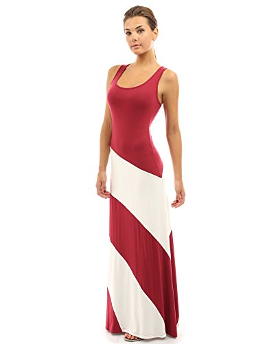 PattyBoutik Women's Racerback Striped Maxi Dress
