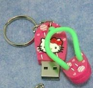 usb key 8 GB fun flash memory stick - hello kitty thong sandals pink(Import from Hong Kong) from funkymemories