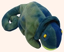 TY Teenie Beanie Babies Iggy the Iguana Stuffed Animal Plush Toy - 1