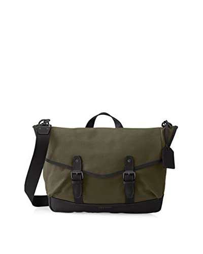 Cole Haan Men's Waxed Canvas Messenger Bag, Olive