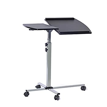 Techni Mobili Height Adjustable Laptop Cart, Graphite