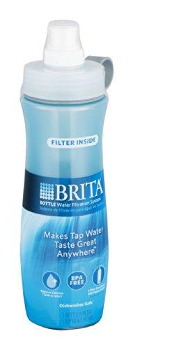 Soft Squeeze Water Filter Bottle, 20oz, Aqua Blue