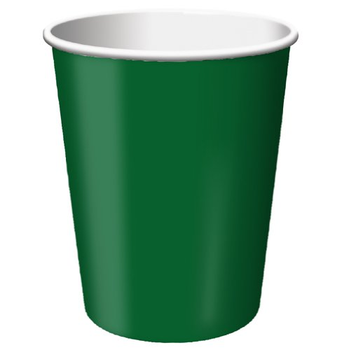 Creative Converting Paper Hot/Cold Cups, 9-Ounce., Hunter Green Color, Package Of 24,   (Pack of 5)