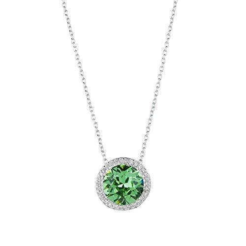Green Crystal Halo Pendant