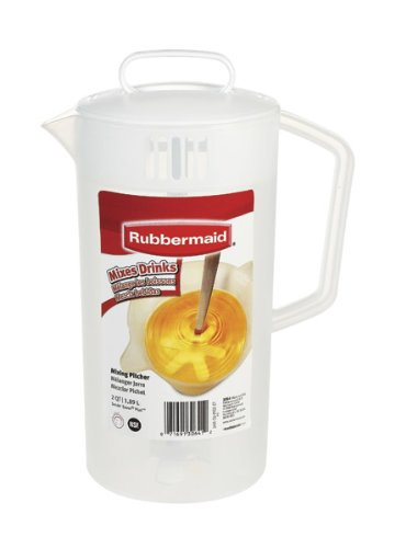 Rubbermaid Mixing Pitcher 2 Qt. Translucent, White (Rubbermaid Pitcher 2 Quart compare prices)