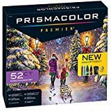 PrismaColor Premier 52-Piece Gift Set, Includes 24 Premier Colored Pencils for Landscape and Under The Sea Themes, 24 Premier Dual Ended Markers, 3 Coloring Pages and 1 Premier Pencil Sharpener (Color: 52-piece Premium Mixed Coloring Set)