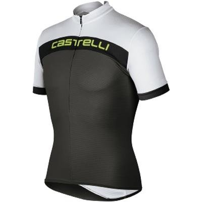 Castelli 2010 Men's Prologo Short Sleeve Cycling Jersey - anthracite/white/black - A8006-901