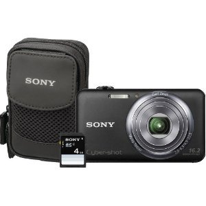 Sony Cyber-Shot DSC-WX70BDL 16.2MP CMOS Digital Camera with 4 GB Memory Card and Case (Black) (2012 Model)