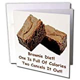 Sandy Mertens Chocolate Designs - Brownie Diet - Greeting Cards-6 Greeting Cards with envelopes
