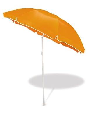 Strandschirm - Sonnenschirm 1,60m Durchmesser - knickbar - orange von 1,60 m Durchmesser - incl. Tragetasche bei Gartenmöbel von Du und Dein Garten