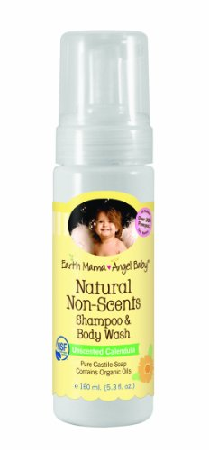 Earth Mama Angel Baby Shampoo and Body Wash, Natural Non-Scents, 5.3 Ounce
