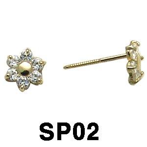 14k Baby Screwback Earring.
