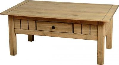 Coffee Table Pine Occasional Living Room Furniture Solid Pine Waxed *Brand New*