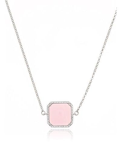My Silver Collar Square Rosa De Francia Zirconium