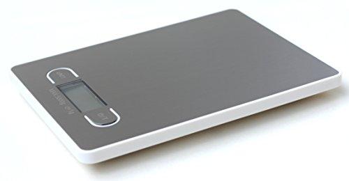 RunFa jour balance de cuisine professionnels avec écran éclairé, vert-top balance, Aluminium, blanc