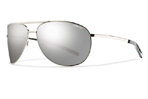 Smith Optics Serpico Sunglasses (Silver With Polarized Platinum Lens)