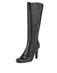 Autograph Leather Panelled Boots with Insolia® & Stretch Zip