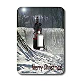 Beverly Turner Christmas Design and Photography - Snowmobile Rider Merry Christmas - Light Switch Covers - single toggle switch