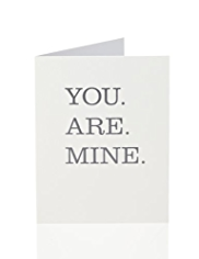 "Fifty Shades of Grey ""You Are Mine"" Greetings Card"