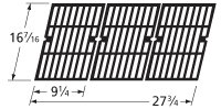 Music City Metals 61613 Matte Cast Iron Cooking Grid Replacement for Gas Grill Models Kenmore 146.16132110 and Kenmore 146.16133110, Set of 3
