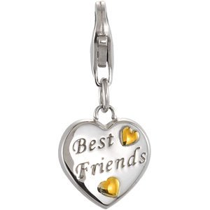 Sterling Silver Heart Charm Engraved with