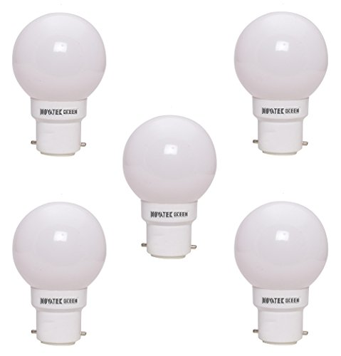 0.5W LED Bulb (White, Pack of 5)