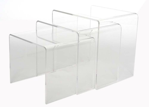 Baxton Furniture Studios Acrylic Nesting Tables, Clear