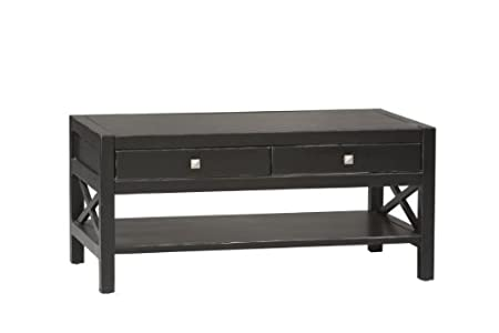 Coffee Table in Antique Black Finish
