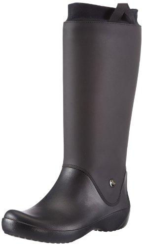 Crocs RainFloe Boot W, Stivali, Donna, Nero (Bkbk), 39-40