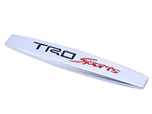 Deselen - LP-BS20 - Toyota TRD Sport Car Emblem Chrome Stickers Decals Badge Labeling for Highlander, Supercharger, Tundra, Tacoma, 4runner, RAV4,Camry, 1pc (Toyota Corolla Supercharger compare prices)