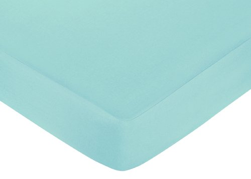 Fitted Crib Sheet for Turquoise and Gray Chevron Zig Zag Baby/Toddler Bedding by Sweet Jojo Designs - Turquoise - 1