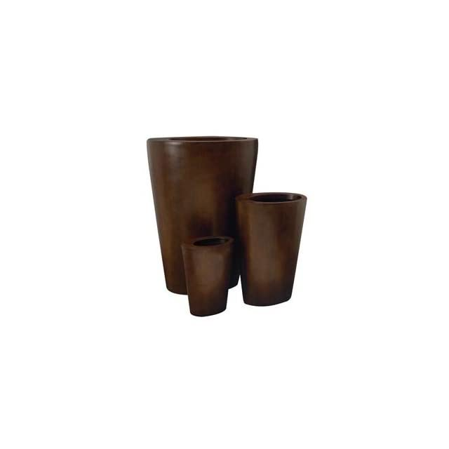 Set of Three Exotic Modern Indoor Outdoor Planters Patio, Lawn & Garden