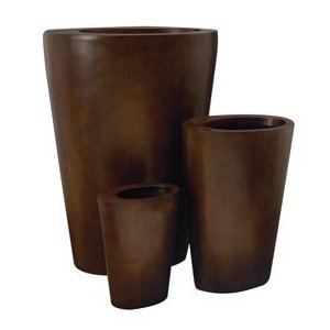 Set of Three Exotic Modern Indoor Outdoor Planters
