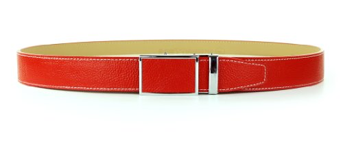 Nexbelt Colour Series Sunday Red Belt Adjustable Ratcheting System Precise Fit