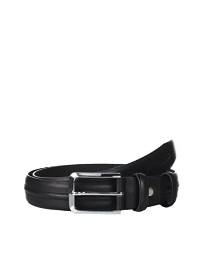Ortiz & Reed Cinturón Piel Black Leather Belt Negro