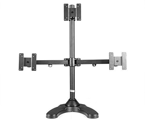 MonMount Triple Monitor Stand Freestanding Triangle Orientation Holds Up to 27