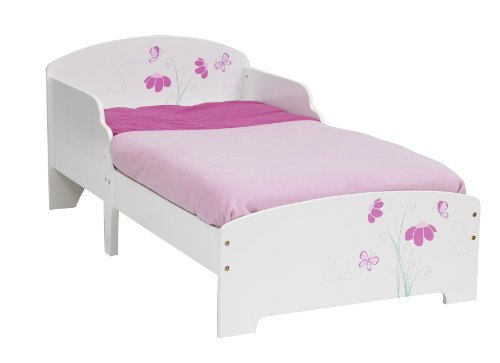 Worlds Apart Butterflies and Flowers Toddler Bed