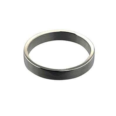 Platinum 3mm plain Flat Wedding Ring Sizes I to P