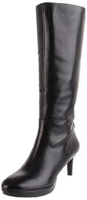 Rockport Women's Juliet Knee-High Boot, Black Smooth Calf, 10.5 M US