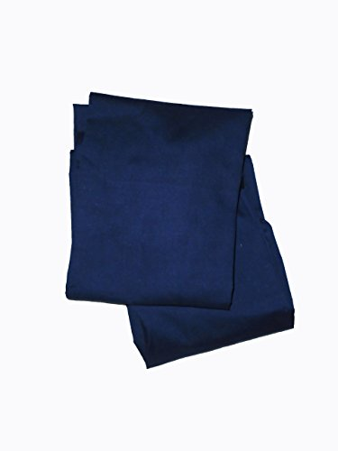 Baby Doll 2 Piece Solid Crib Sheet Set, Navy