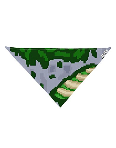 "TooLoud Pixel Zombie Costume Green Dog Bandana 26"" All Over Print"