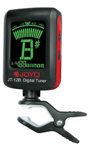 Joyo Jt-12B Clip-On Tuner, Low Cost Tuning Solution For Strings Instruments Chromatic/Guitar/Bass/Violin/ Ukulele