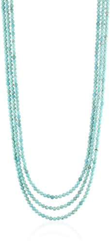 K. Amato Chain and Triple Strand Beaded Turquoise Necklace