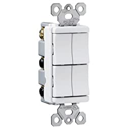 Legrand TM81111WCC TradeMaster 15A 120V Decorator Four Single Pole Switches in White